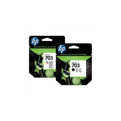 2 HP 703 tusze F735 D730 K209A K510A drukarki czarny + kolorowy